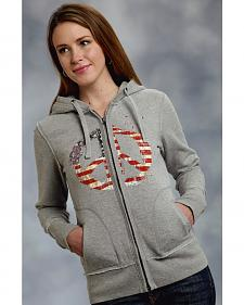 Roper Women's Americana Peace Zip-Up Hoodie - Plus