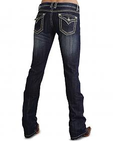 Stetson Women's 818 Fit Contemporary Heavy Top Stitch Bootcut Jeans - Plus