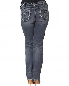 Silver Jeans Co. Suki Mid Slim Dark Wash Jago Jeans - Plus Size