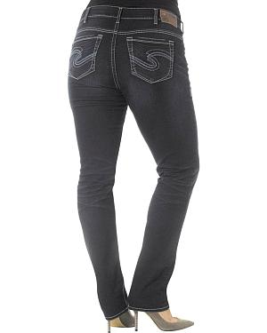 Silver Jeans Co. Suki Mid Slim Rinse Washed Joga Jeans - Plus Size