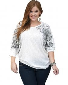 Petrol Women's Aztec Shoulder Dolman Top - Plus Size