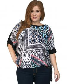 Lawman Women's Printed Chiffon Tunic - Plus Size