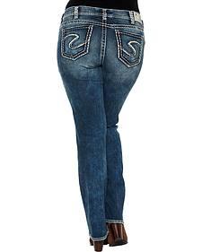 Silver Jeans Women's Suki Mid Rise Bootcut Jeans - Plus SIze