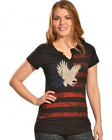 Liberty Wear Women's Patriotic Eagle T-Shirt - Plus
