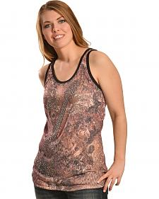 Liberty Wear Women's Leopard Guitar Tank Top - Plus