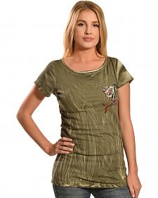 Liberty Wear Women's Olive Vintage Life Style Top - PLus Sizes