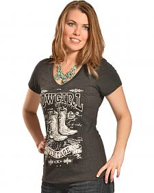 Liberty Wear Women's Vintage Cowgirl Tee - Plus