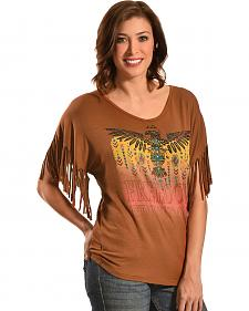 Liberty Wear Women's Freedom Fringe Top - Plus