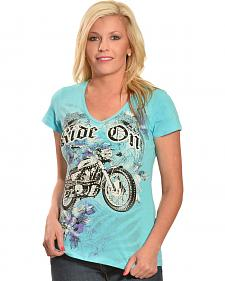 Liberty Wear Women's Ride On Tee - Plus