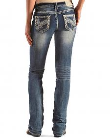 Grace in LA Embellished Pocket Jeans - Bootcut