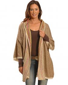 Lawman Women's Brown Crochet Wrap - Plus Sizing