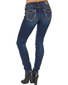 "Silver Women's Suki Mid Plus Size Skinny Jeans - 32"" Inseam"