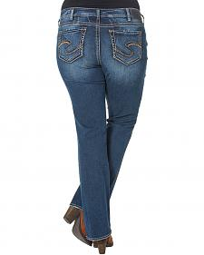 Silver Women's Suki Mid-Rise Bootcut Jeans - Plus Size