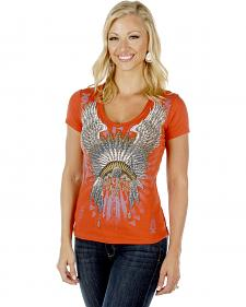 Liberty Wear Women's Native Angel Short Sleeve Tee - Plus