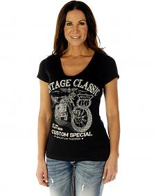 Liberty Wear Women's Vintage Classic Short Sleeve Tee - Plus