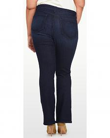 NYDJ Women's Billie Mini Bootcut Premium Denim Jeans - Plus Size