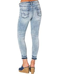 Silver Women's Indigo Avery Ankle Skinny Light Wash Jeans