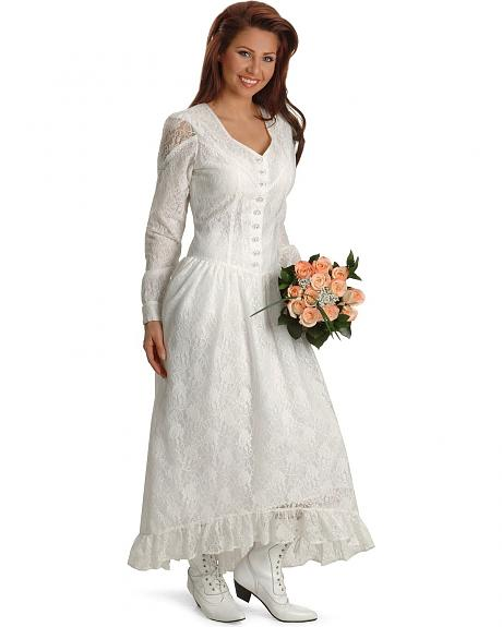 Ivory Western Wedding Gown