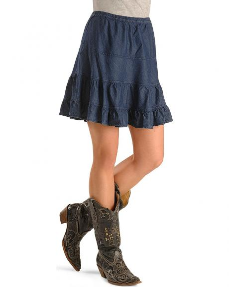 Women's Roper Tiered Denim Mini Skirt