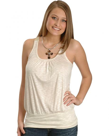 Rock & Roll Cowgirl Slub Jersey Tunic Tank Top
