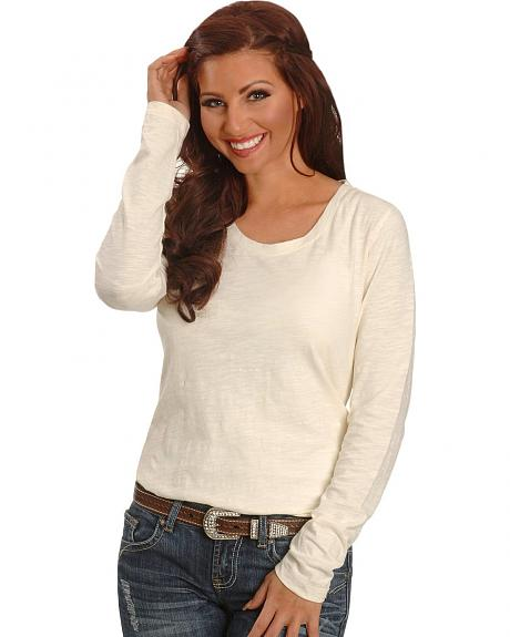 Cowgirl Tuff Cream Slub Knit Top