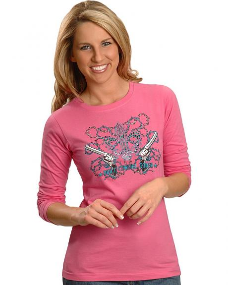 Ransom Ranch Raspberry Built Cowgirl Tough Tee