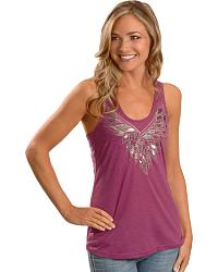 Miss Me Crossed Back Tank Top at Sheplers