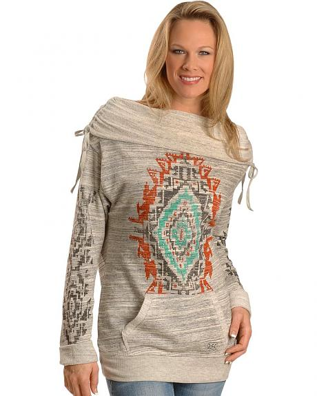 Miss Me Aztec Print Top