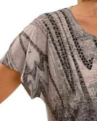 Katydid Striped & Embellished Sublimation Top at Sheplers