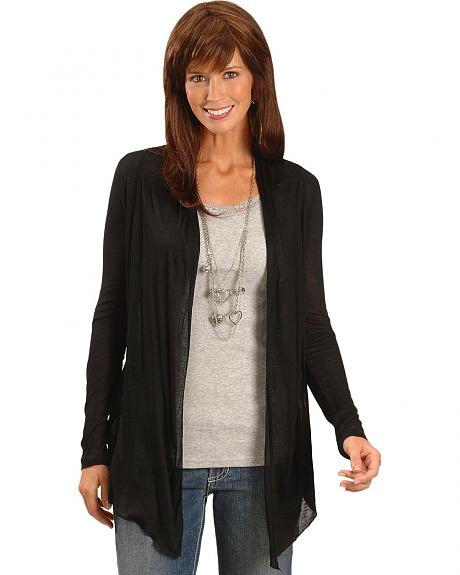 Panhandle Slim Black Open Cardigan