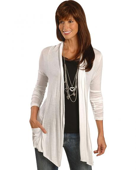 Panhandle Slim White Open Cardigan