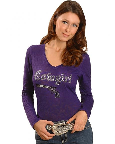 Cowgirl Hardware Purple Burnout