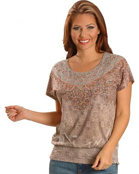 Katydid Bedecked Sublimation Burnout Top
