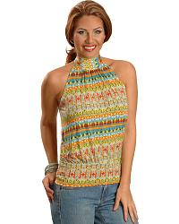 Panhandle Slim Aztec Border Halter Top at Sheplers