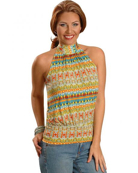 Panhandle Slim Aztec Border Halter Top
