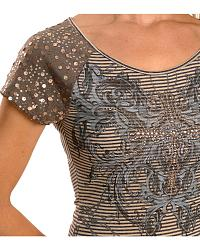 Cowgirls & Diamonds Striped Sequin Sleeve Tee at Sheplers