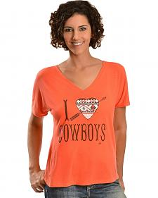 Ali Dee I Love Cowboys Aztec Heart T-Shirt
