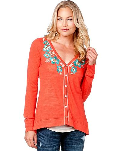 Miss Me Floral Embroidered Cardigan
