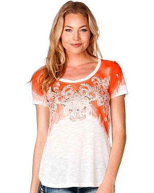 Miss Me Lace Back Top in Off White