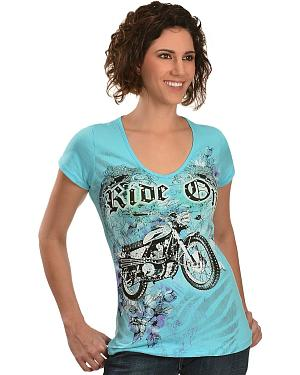 Ride On Embellished Tee