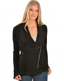 Petrol Asymmetrical Zipper Jacket
