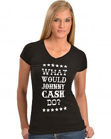 "Cowgirl Justice ""What Would Johnny Do?"" Tee"