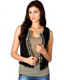 Miss Me Beaded Fringe Vest