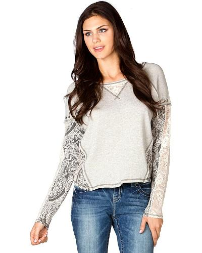 Miss Me Terry Pullover Top