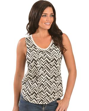 Petrol Chevron Tank Top