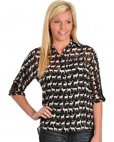 Girls With Guns New Zealand Animal Print Top
