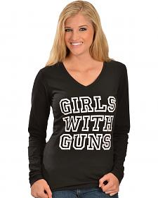 Girls With Guns Stone GWG Logo Long Sleeve T-Shirt