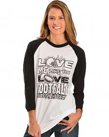 "ATX Mafia ""Love Me Like You Love Football Season"" Baseball Tee"