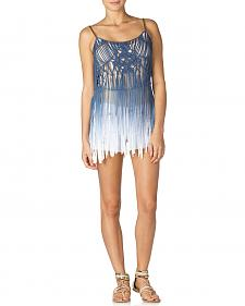 Miss Me Sea Breeze Fringe Tank
