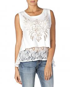Miss Me Burnout Lace Tank